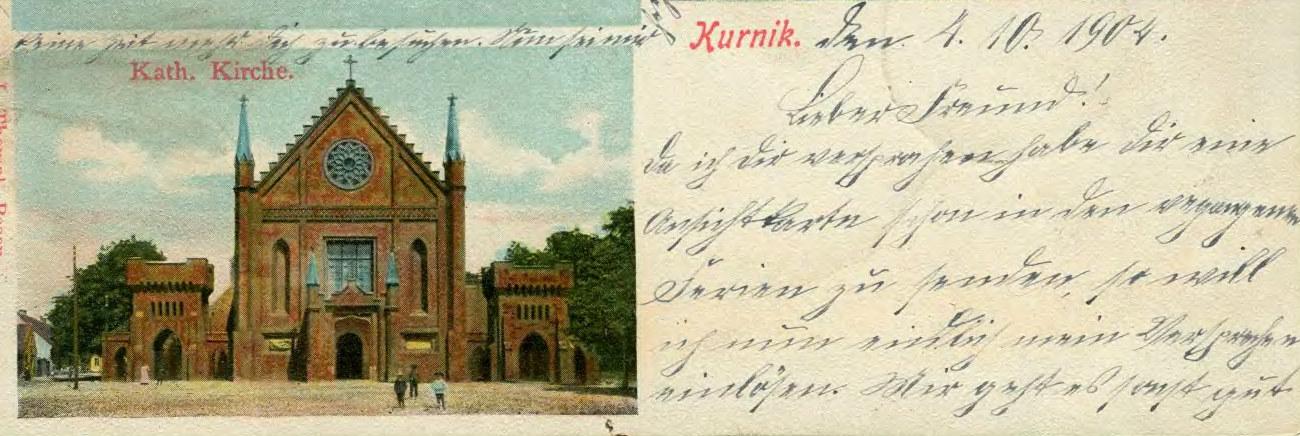 kartka-pocztowa-kórnik-kościół