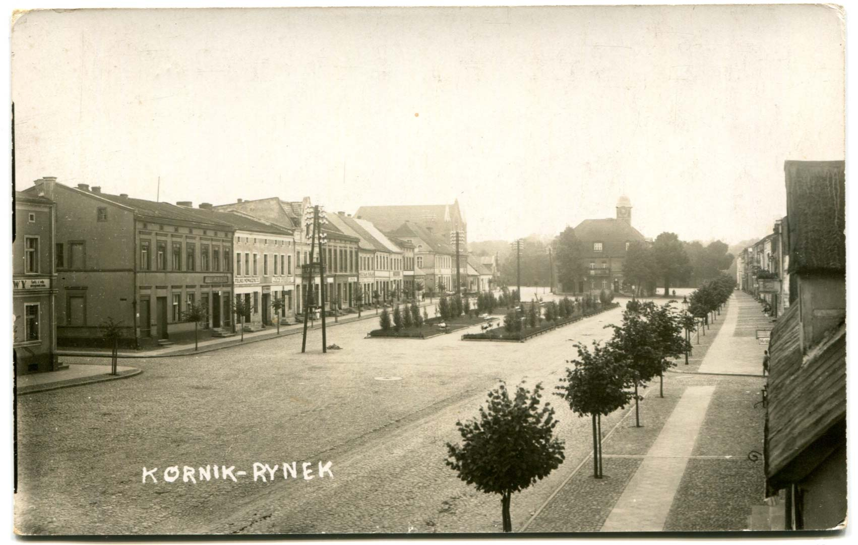 Rynek w Kórniku - około 1930 rok