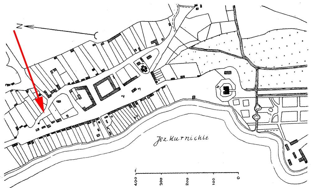 plan miasta Kórnika 1794