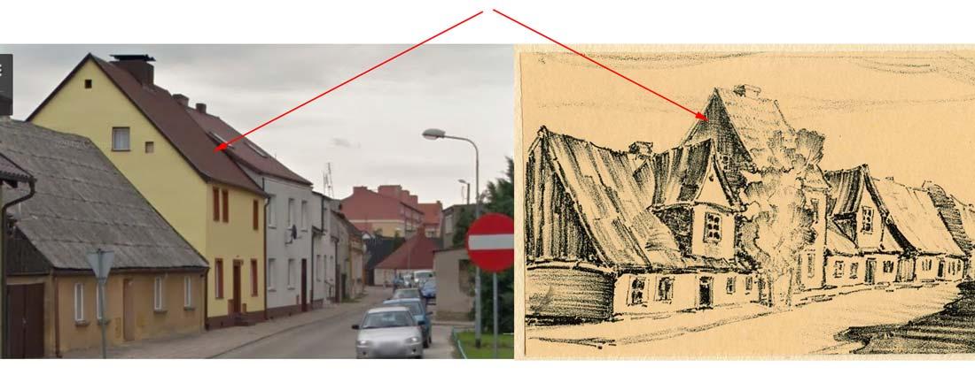 ulica Poprzeczna Kórnik porównanie 2015-1936