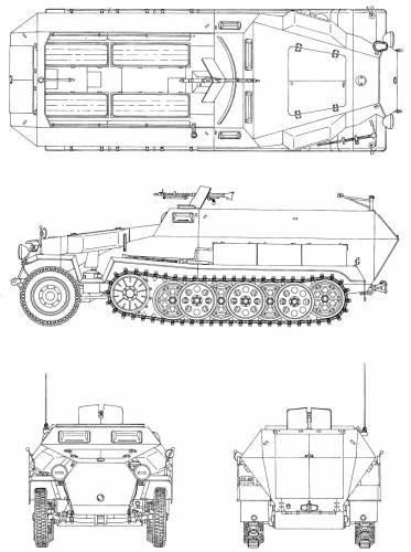 Sd.Kfz.251_-_rzuty