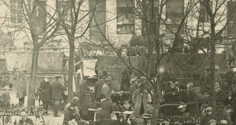 Kórnik jarmark 1926 - sukna