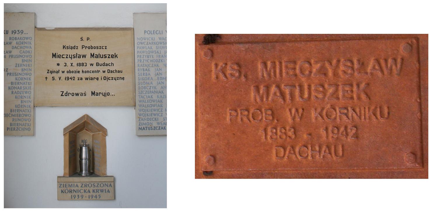 Pomnik księdz Mieczysław Matuszek - Poznań - Kórnik