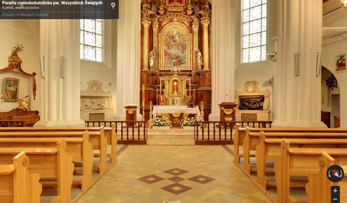 Panorama Kościoła p.w. Wszystkich Świętych w Kórniku