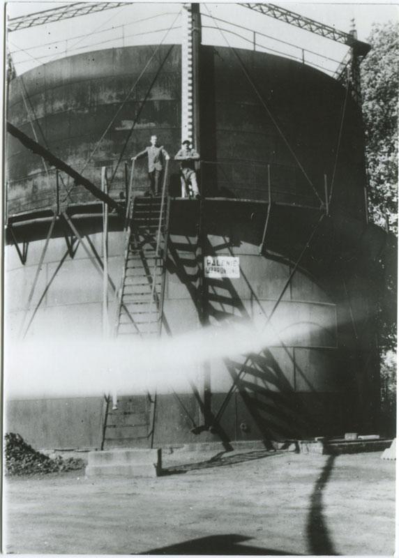 Gazownia Kórnik - zbiornik na gaz