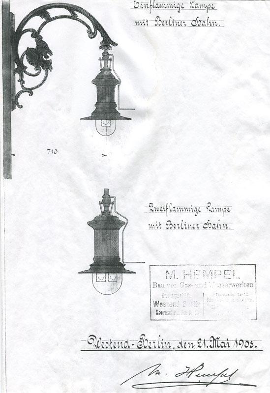 latarnia gazowa Kórnik projekt nr 2