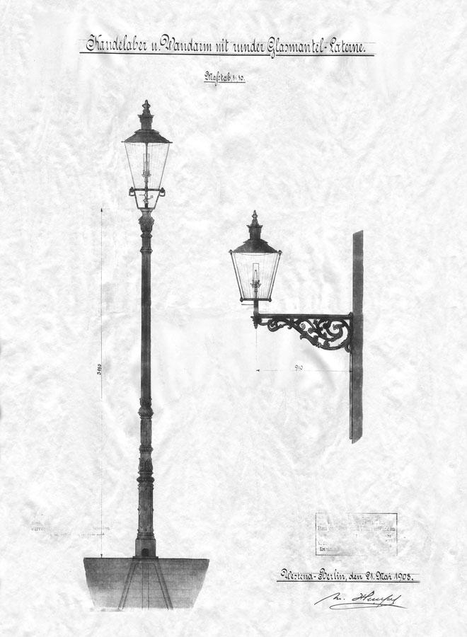 Latarnie gazowe Kórnik 1908