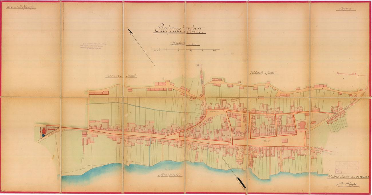 Mapa gazyfikacji Kórnika 1908