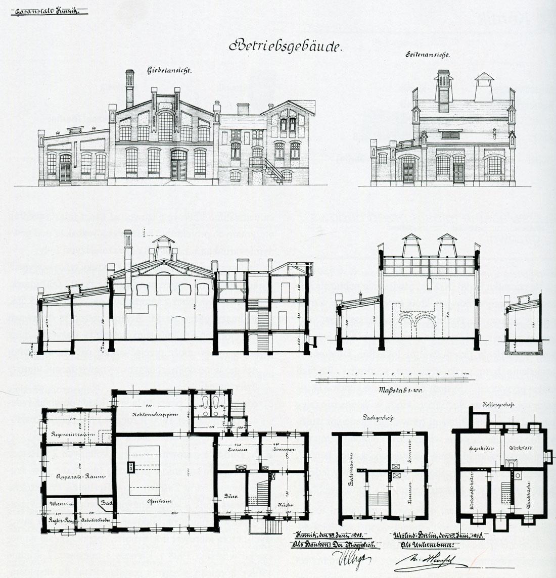 Projekt Gazowni - Kórnik 1908