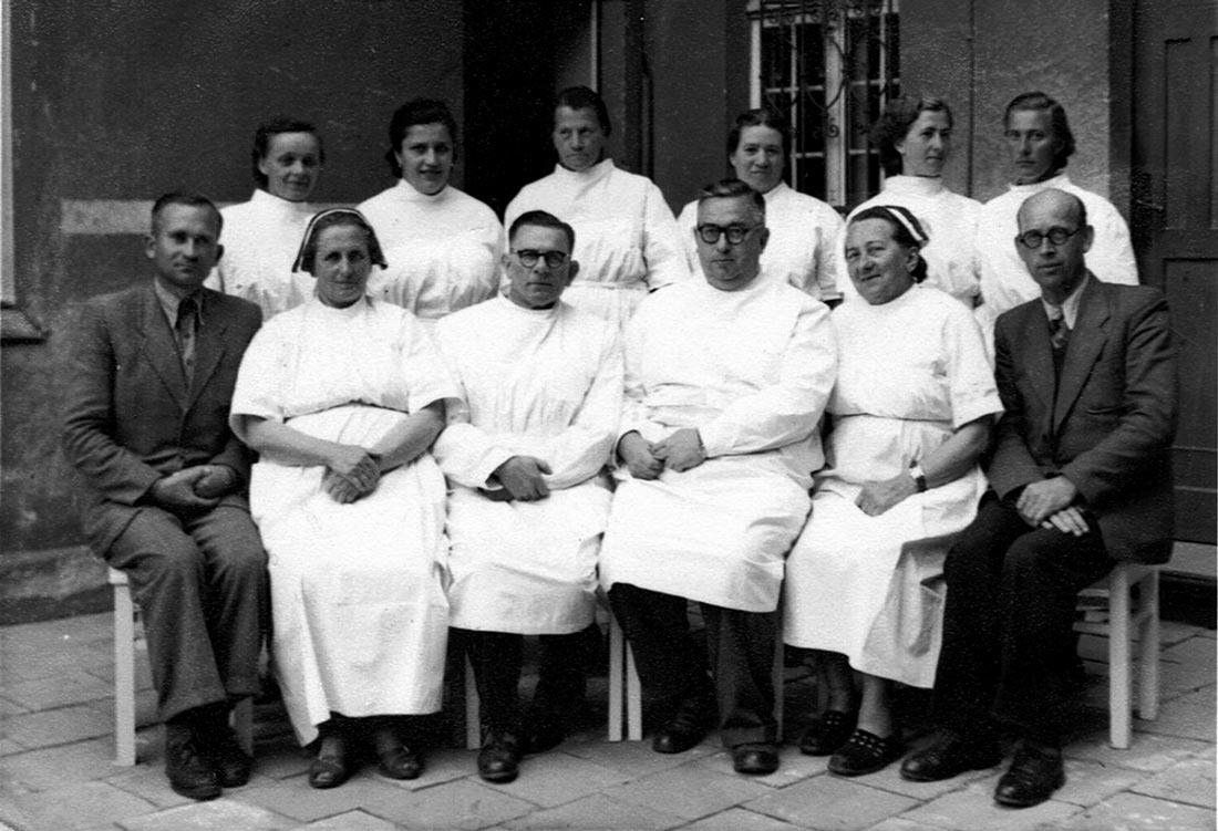 Personel Izby Porodowej w Kórniku - 1957