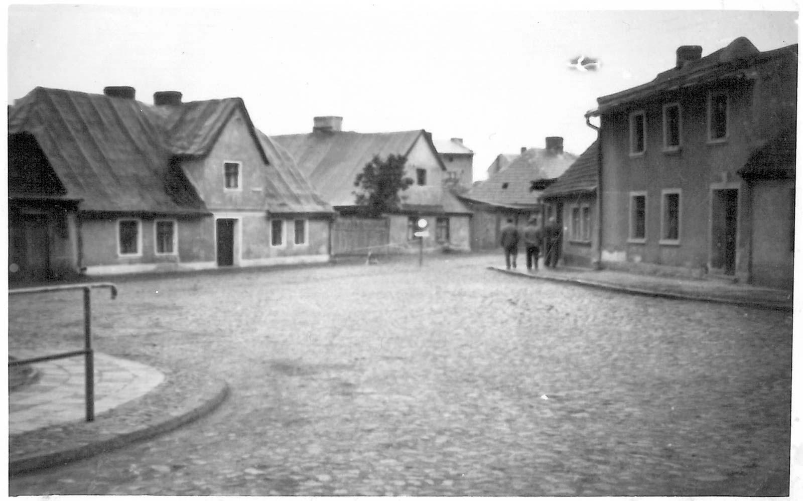 Wejście na ulicę Poprzeczną - Kórnik