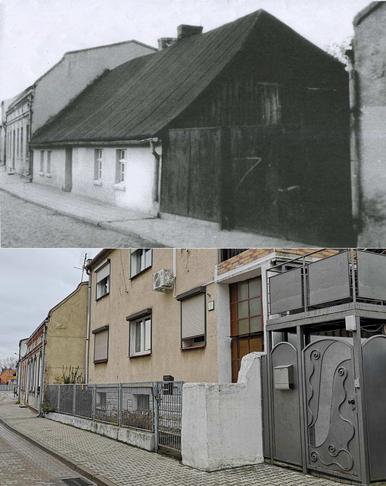 ulica Poprzeczna Kórnik - około 1960 roku