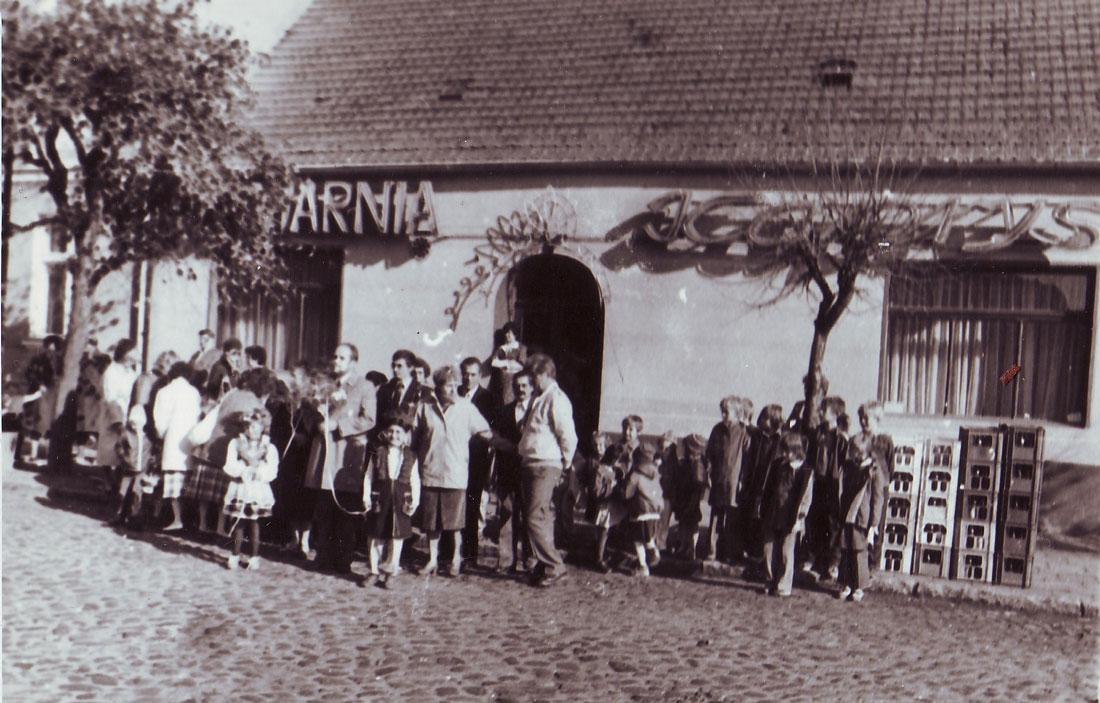 Kawiarnia Kaprys Kórnik lata 70te