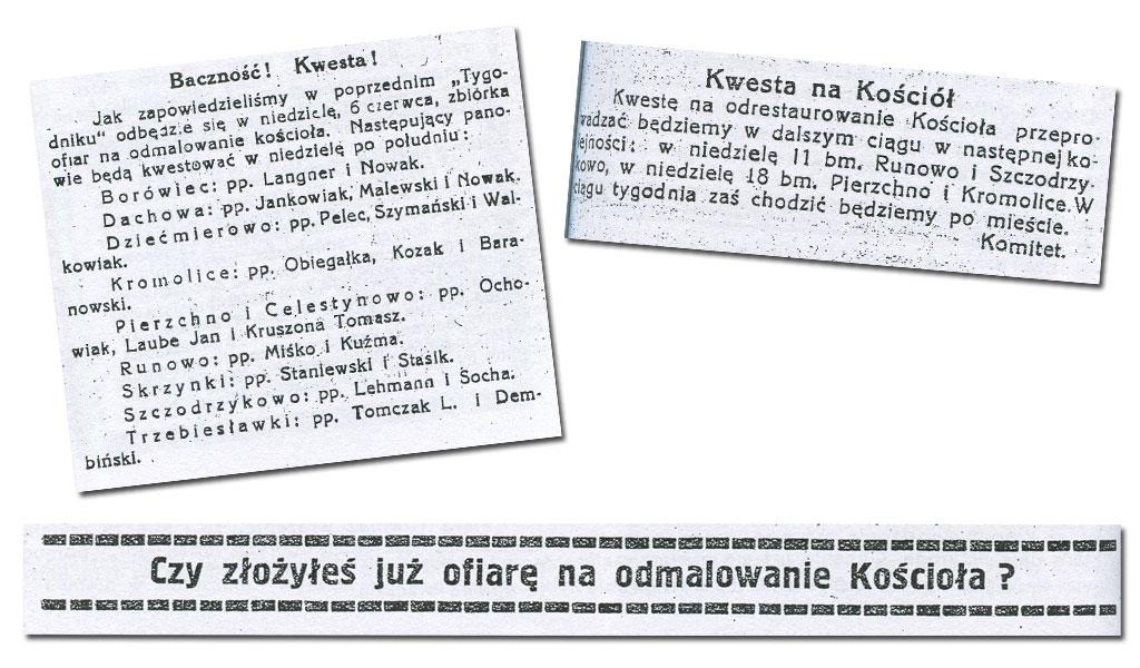 Kwesta na Kościół w Kórnik - 1936