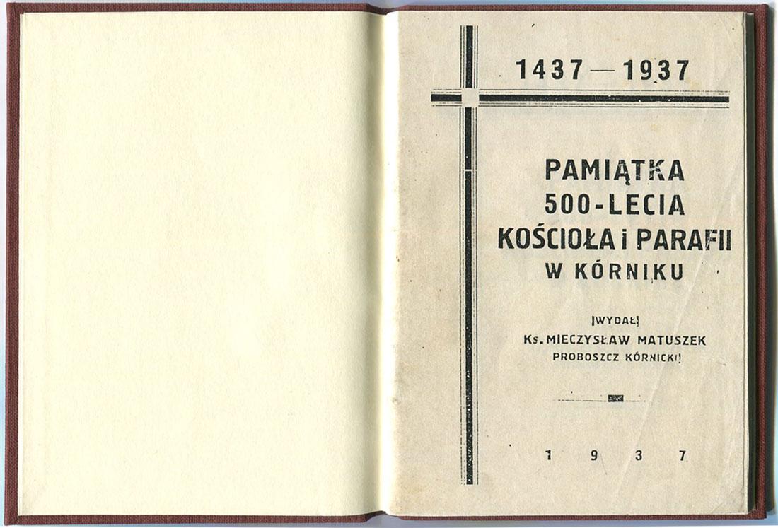 Pamiątka 500-lecia Kościoła i Parafii w Kórniku