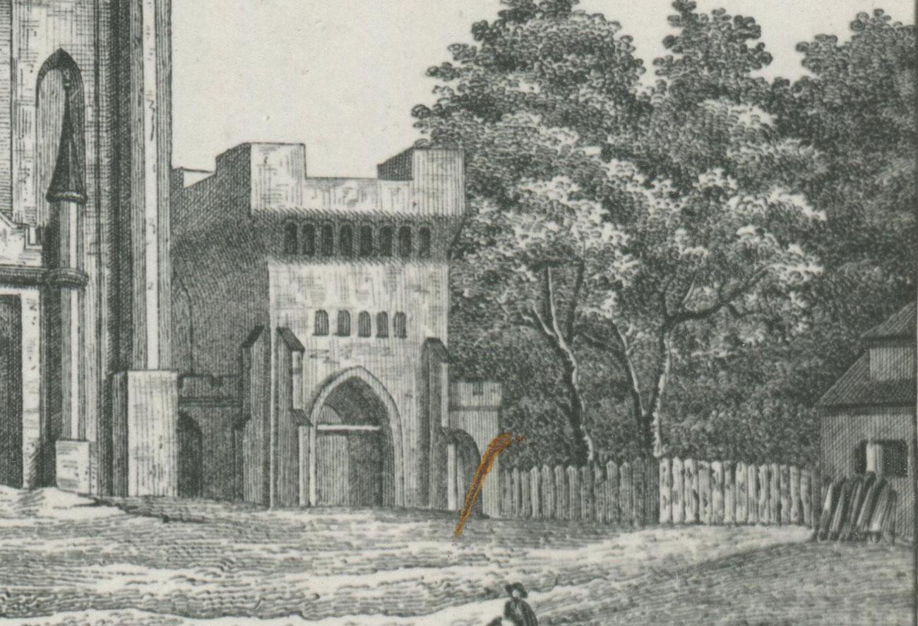 Kościół Kórnik stara rycina probostwo