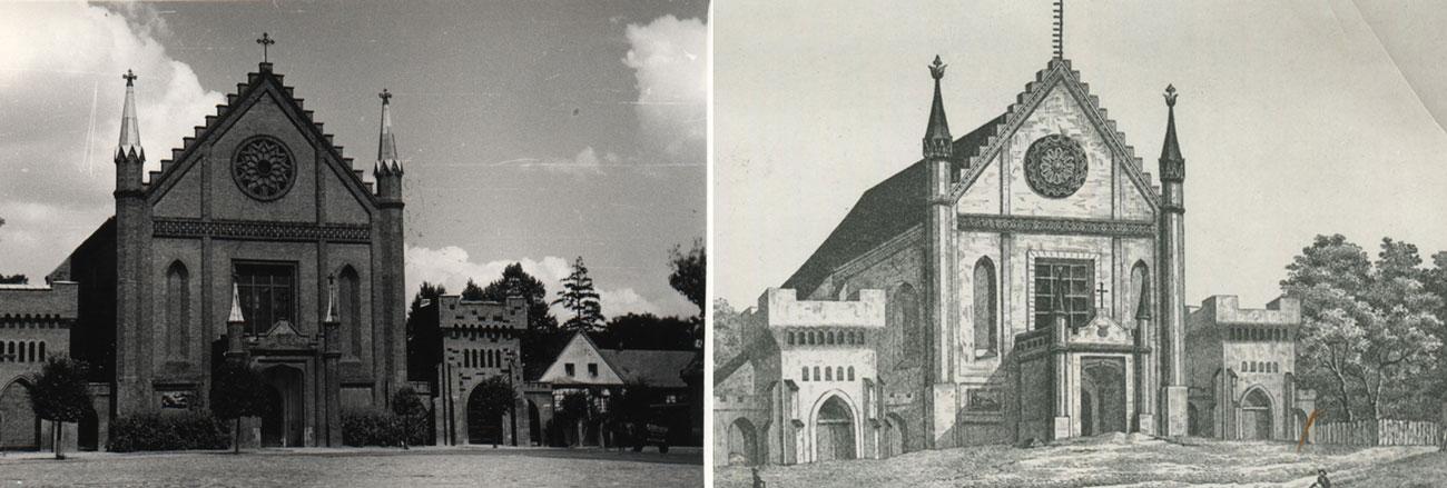 Kościół pw. Wszystkich Świętych w Kórniku porównanie