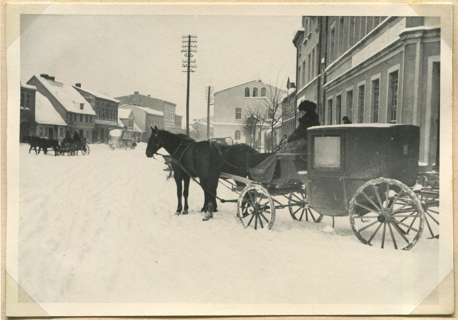 Kórnik zima 1939r - Rynek / Plac Niepodległości