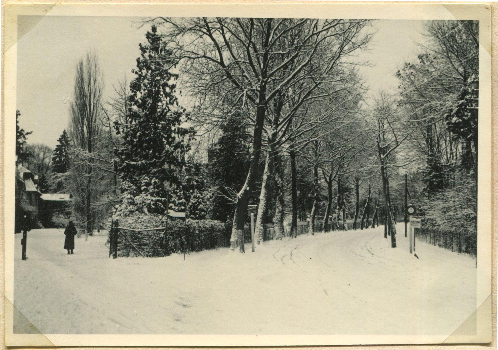 Kórnik ul. Zamkowa - zima 1939 rok