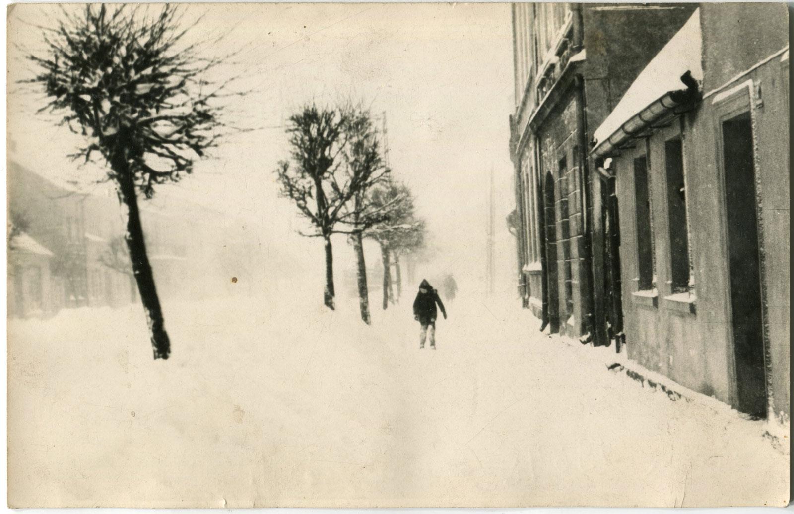 ul. Poznańska Kórnik 1964 rok - zima