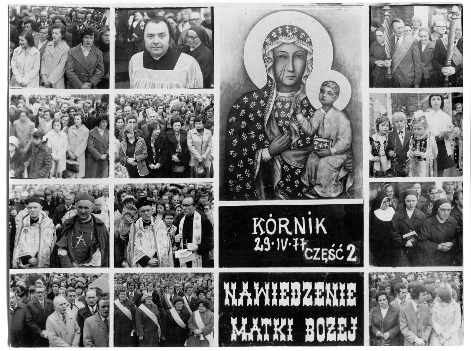 Pamiątka Nawiedzenia Matki Boskiej Częstochowskiej - Kórnik 1977