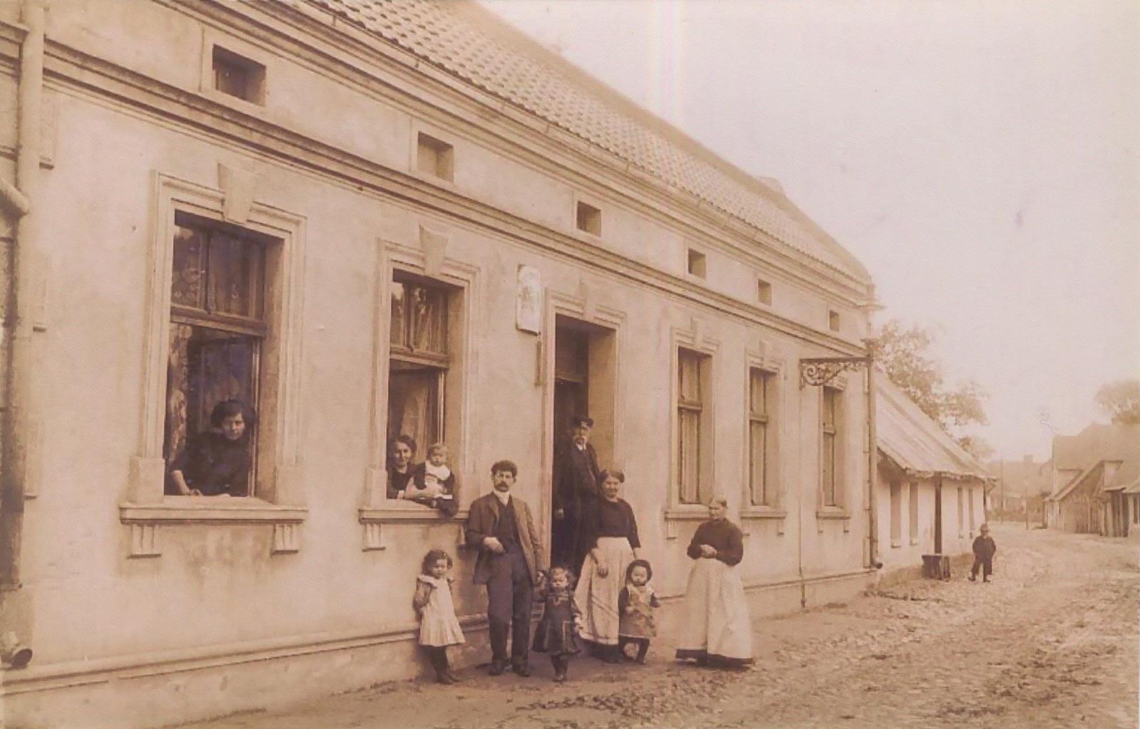 Dom ul. Poprzeczna, Kórnik - zdjęcie z 1912 roku