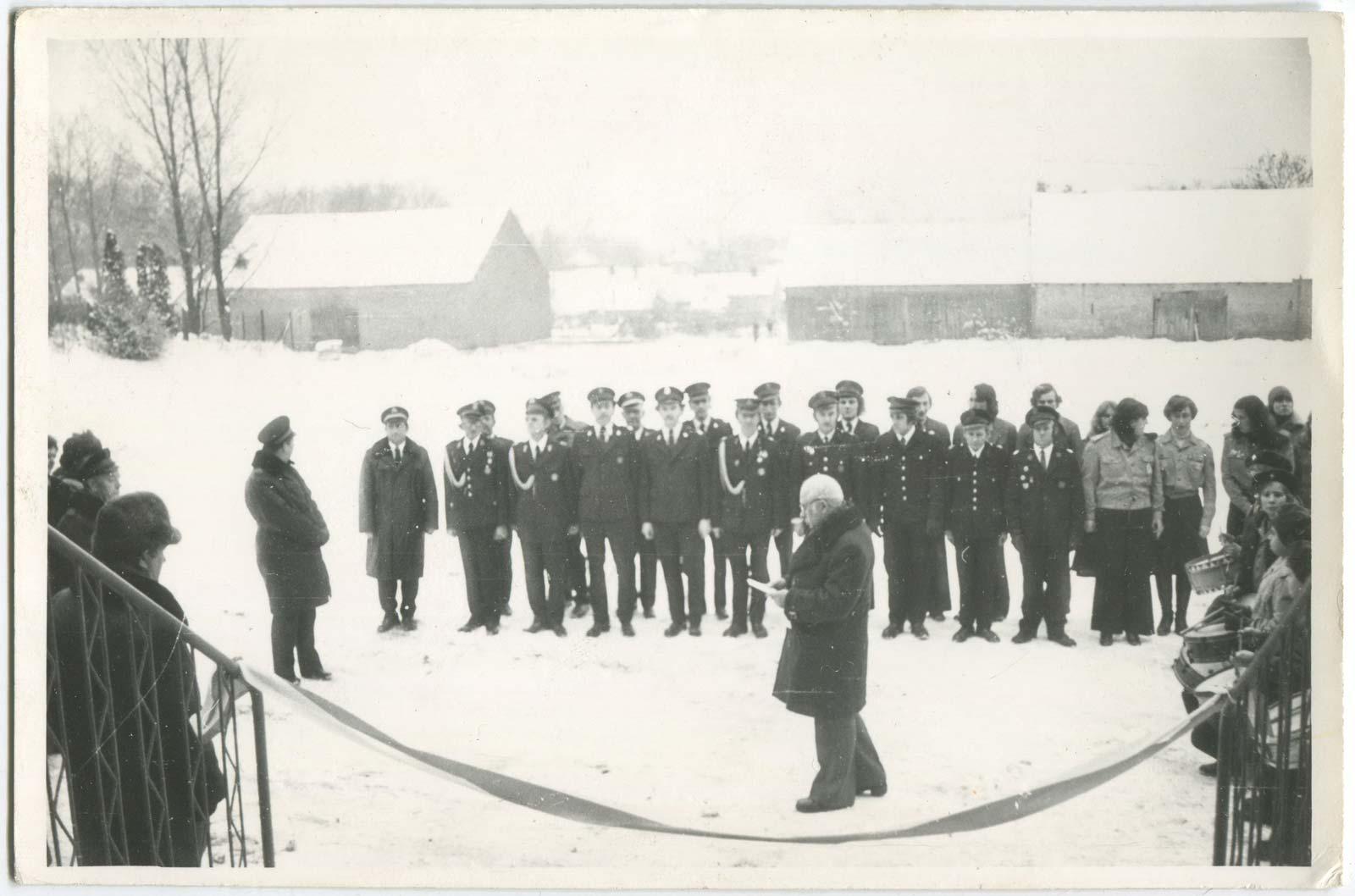 Otwarcie Domu Strażaka OSP Kórnik - 18 grudnia 1977 rok