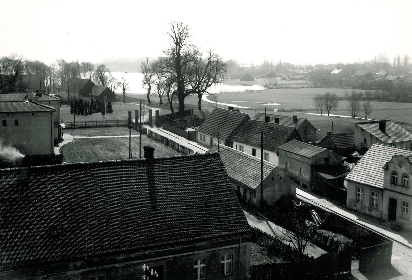 Widok z wieży ratusza w Bninie na południe - 1961 rok