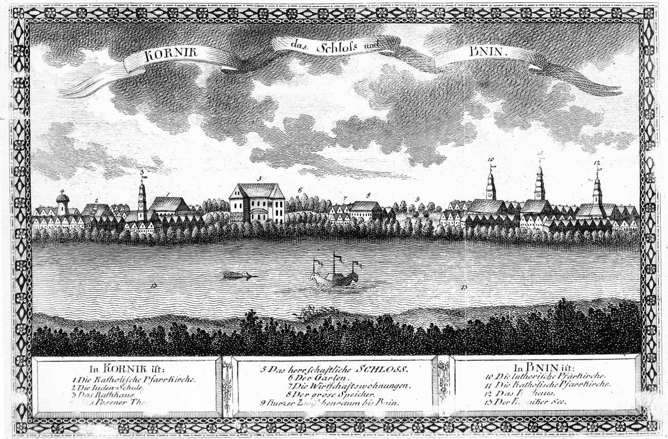 Panorama Kórnika - rok 1798