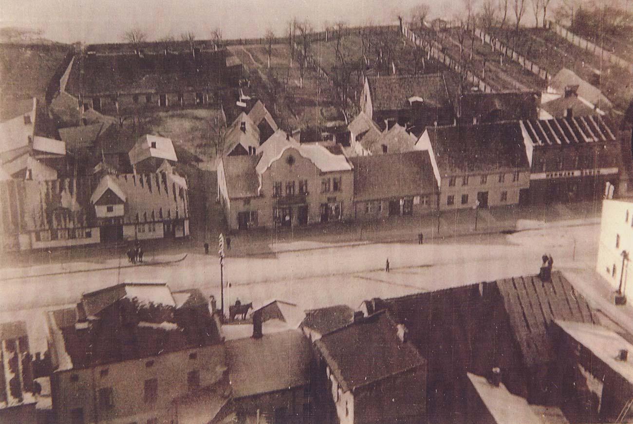 Rynek w Kórniku - lata 30'te XX wieku