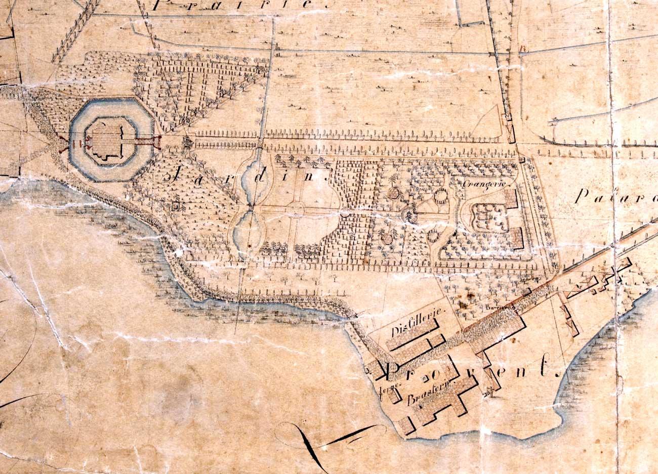 Stara mapa Kórnika - Zamek i Proent