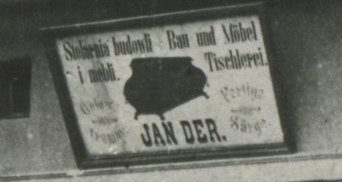 Szyld Stolarnia Budowli i Mebli Jan Der, Kórnik