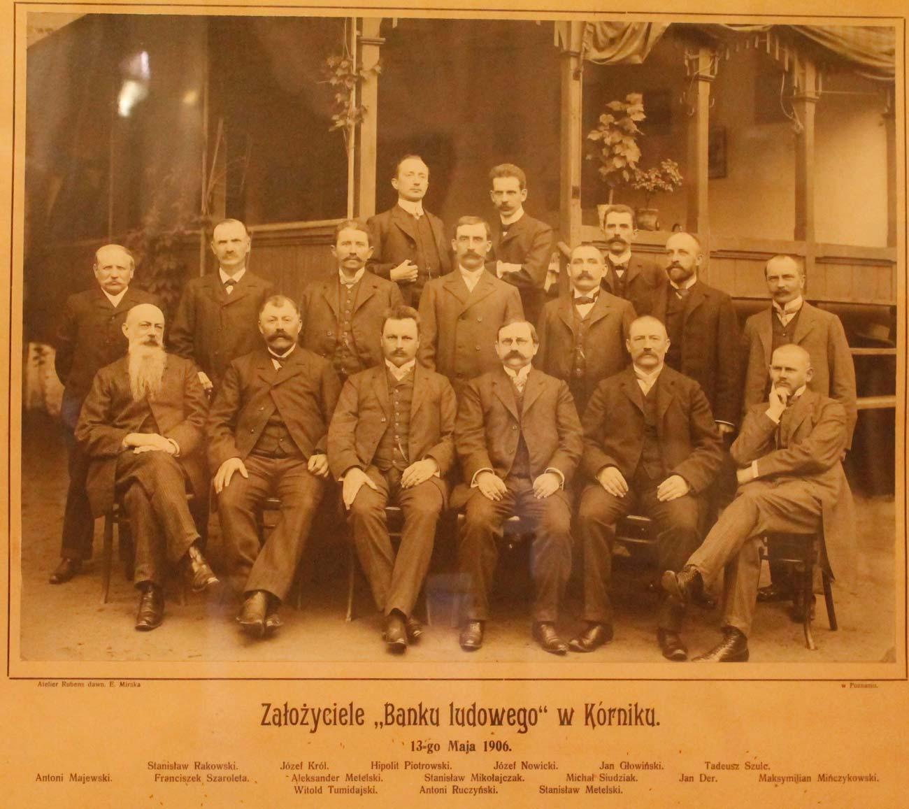 Założyciele Banku Ludowego w Kórniku 1906 rok