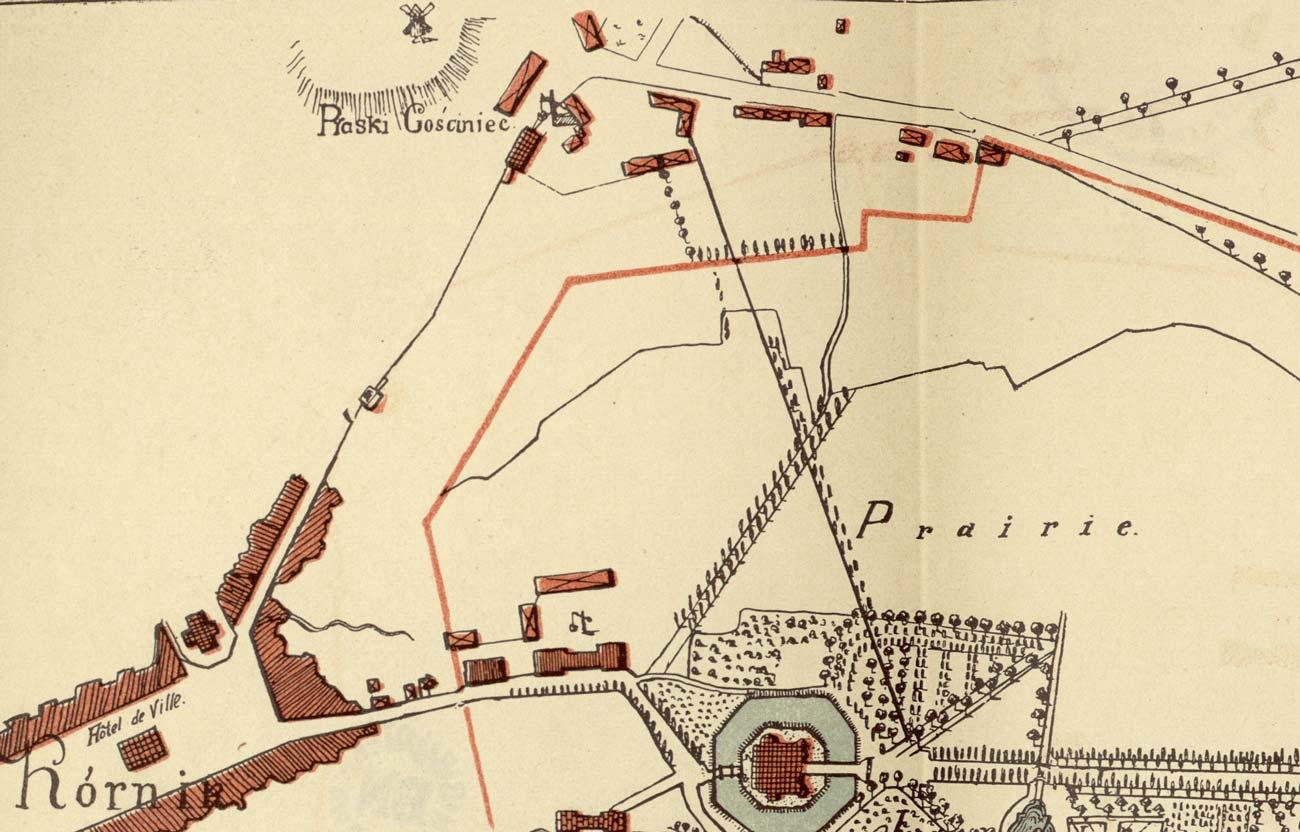 Piaski Gościniec Kórnik początek XIX wieku
