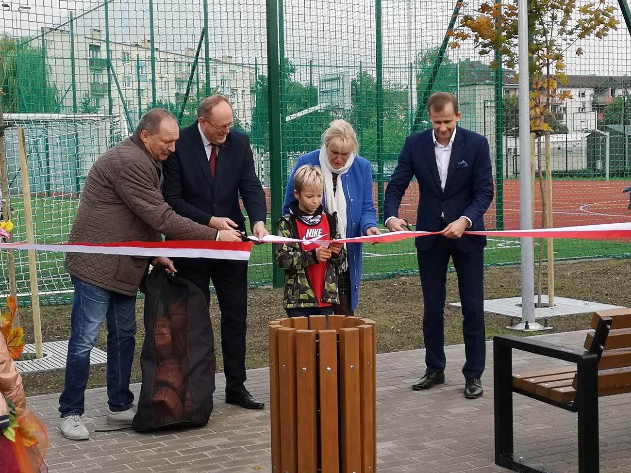 Otwarcie nowego boiska szkolnego - wrzesień 2019