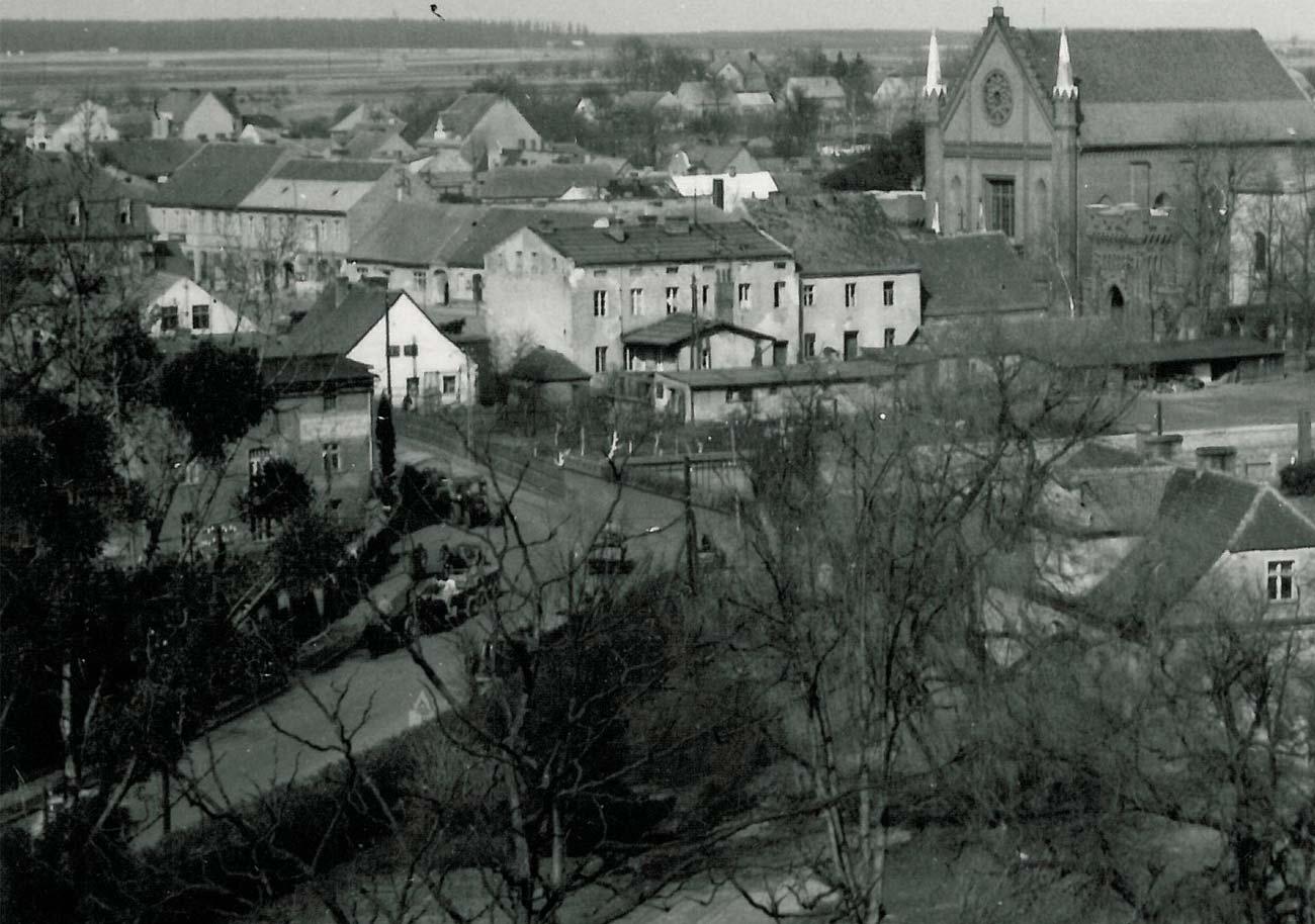 Baza spółdzielni Rolnik z Kórnika (obecnie Gminna Spółdzielnia Samopomoc Chłopska - 1961 rok