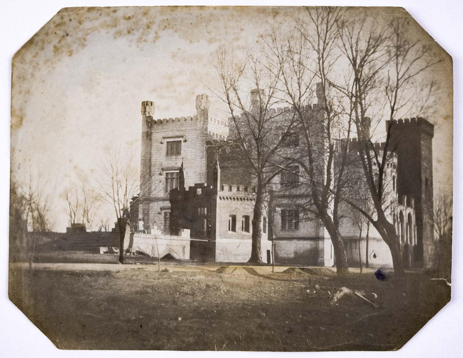 Zamek w Kórniku w budowie - około 1956 rok